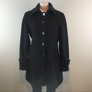 Kristen Blake Black Wool Coat-B24